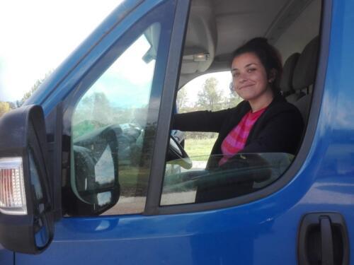 Valetina camionista della vendemmia
